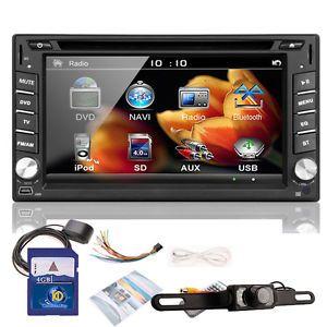 "Ouku 2Din 6 2""Car DVD Player GPS Dual Zone Radio Bluetooth iPod TV SD Map Camera"