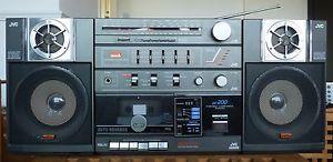 JVC PC 200 Vintage Boombox Stereo Cassette Radio