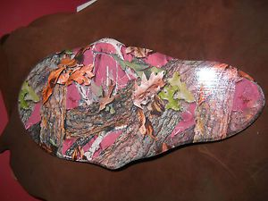 Camo Dipped Ladies European Skull Mount Flat Wall Plaque Deer