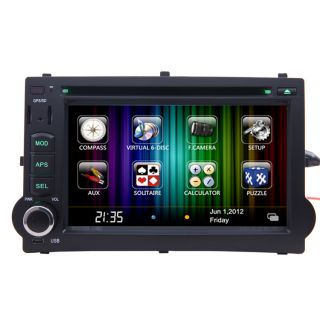 Car GPS Navigation Radio HD Touch Screen DVD Player for 2007 11 Hyundai H 1 I800