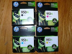 New HP 950XL Black Ink and 951 Color Ink Cartridges Set Multi Pak 2013 Printer