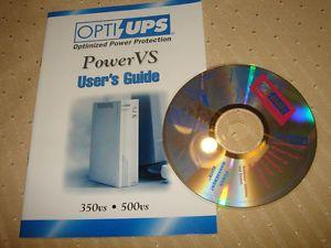 Opti UPS Power vs 350 vs 500 vs User Guide Manual Software CD