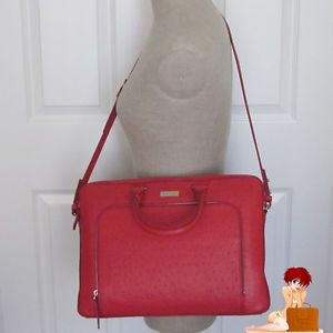 New Authentic Kate Spade Portola Valley Janine Laptop Bag Purse Bag Spice Red