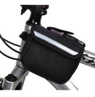 Bike Frame Pannier Front Tube Bag Accessories Mobile Phone Pouch