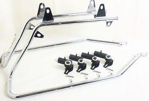 Bagger Softail Conversion Mounting Bracket Kit Harley Touring Saddl Chrome