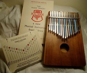 The Hugh Tracey Kalimba African Musical Instrument Made in South Africa w Manual