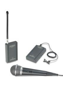 New Audio Technica ATR288W VHF Twinmic Wireless Microphone System 042005400607