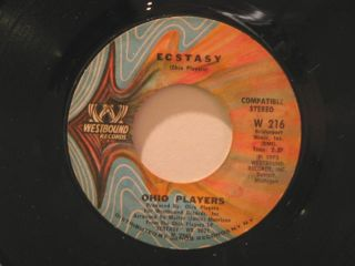 "Ohio Players USA 45 Ecstasy not So Sad and Lonely 7"" Soul Westbound"