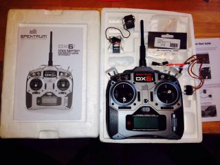 Spektrum DX6i RC Airplane Helicopter Transmitter with 2 Receivers