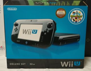 Nintendo Wii U Latest Model Deluxe Set 32 GB Black Console Nintendo Land