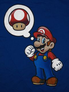 Super Mario Bros Nintendo Mushroom Thought Bubble Video Game T Shirt Tee