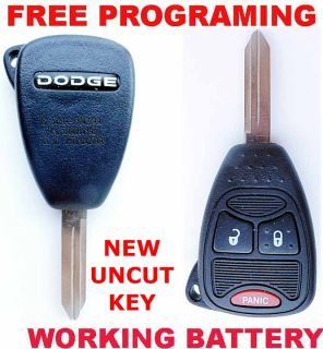 Dodge RAM Durango Dakota Caliber Magnum Uncut Key Remote OHT692427AA 56040649AD