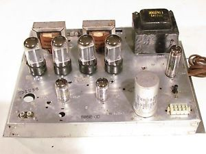 Magnavox 8802 00 Stereo Tube Amplifier 6V6 Very Original Matching Tubes Working