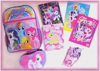 My Little Pony Backpack Pinkie Pie Lunchbox School Supplies Folders Notebooks