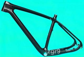 "MBF202 3K Carbon 29er MTB Mountain Bike Frame 15 5"" BSA Headset Clamp Gift"