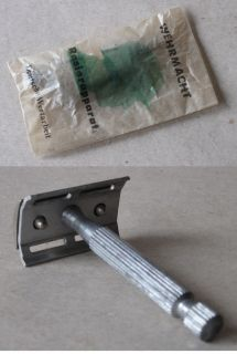 WWII German Military Army Soldier's Safety Razor Wehrmacht Personal Equipment