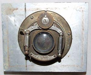 Antique Premo Folding Camera Brass Lens Rochester Optical Bausch Lomb Victor