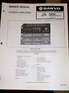 Sanyo JA566 Ja 566 Power Amplifier Service Manual