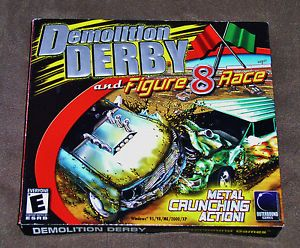 Demolition Derby and Figure 8 Race New PC Computer Game New – Factory SEALED