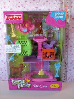 Fisher Price Loving Family Dollhouse Hidden Room Pet Care Set New