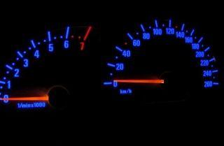 Vauxhall Opel Vectra B Plasma Glow Dials 260 KMH DD