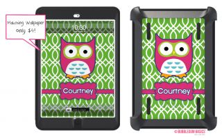 Owl Custom Monogrammed Otterbox® Defender Series iPad Mini Case