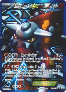 Heatran EX 109 116 Full Art BW Plasma Freeze NM Mint