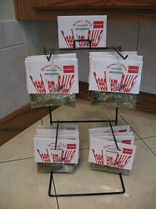 Point of Sale Meatball Seasoning Spice Packets w Counter Display Rack w 20 Paks
