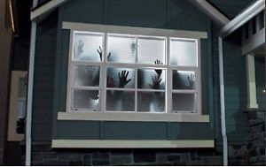 Scary Halloween Window Projection Haunted House Decoration Projector Screen 1