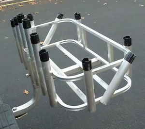 6 pole pal adjustable clamp on fishing rod holder lot for Hitch fishing rod holder