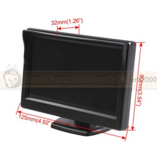 5 inch Vehicle Color TFT LCD Monitor 480X2342CH Video Input DC12V Multi Language