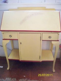 Refurbished Solid Wood Secretary Desk Vintage Antique