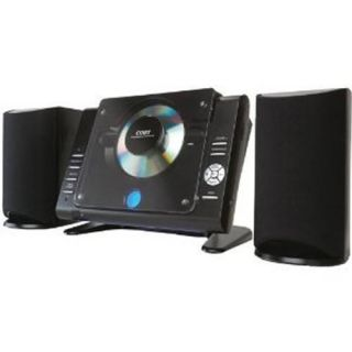New Coby CX CD380 Micro Shelf Vertical CD Player Stereo Speaker System Radio Blk