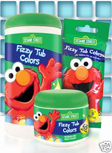 Sesame Street Fizzy Tub Colors 150 Tabs Kids Fizzy Bath Water Coloring Tablets