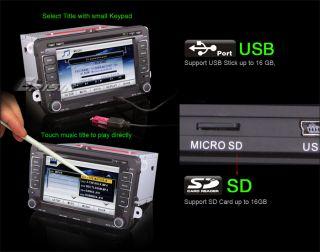 """ES1019MO 7"""" HD Car DVD Player GPS iPod TV WiFi 3G VW Passat Jetta Seat Skoda"""