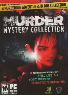 Murder Mystery Collection Still Life 1 2 Post Mortem Loch Ness 4X PC Games 877949100104