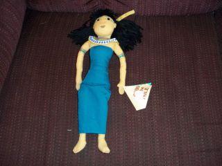 New Rulers of The Nile Egyptian Princess Doll Rag Doll Plush Cloth Figure Tag