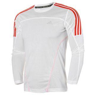 Adidas Response Mens Long Sleeve ClimaLite Running Training T Shirt Top