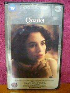 Quartet VHS Video Alan Bates Isabelle Adjani Maggie Smith Anthony Higgins Drama