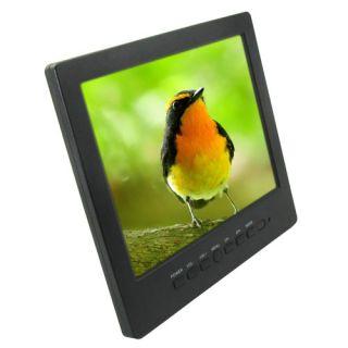 "8"" TFT LCD Color Screen CCTV Video Monitor Portable VGA Input IR Remote Control"