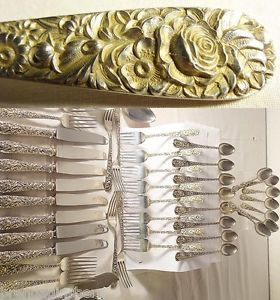 Sterling Silver Flatware Repousse