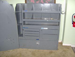 Adrian Steel Adjustable Shelving Cargo Van Shelving 3 Section Doors Keys