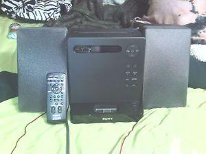 Sony Micro Hi Fi Shelf System iPod Dock CD Player Radio Remote