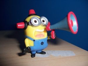 Loose Despicable Me 2 Movie Minion Fireman Alarm Siren Figure Book Cartoon