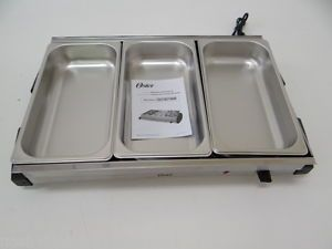 Oster CKSTBSTW00 Buffet Server Stainless Steel Silver Kitchen Small Dent