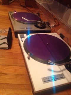 Pair of Technic 1200 Turntables w Stanton Needles Custom