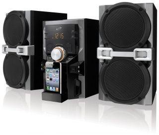 iLive IHP610B Mini CD MP3 Player FM Radio iPod iPhone Speaker Dock Shelf System