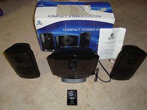 ONN ONA12AV024 Compact Stereo System with Vertical Load CD Player Shelf Speakers