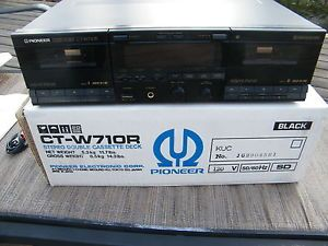Pioneer Stereo Double Cassette Tape Deck Ct W710R Manual Cables Box
