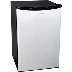 Stainless Steel 4 6 CU ft Compact Fridge Dorm Small Office Mini Refrigerator